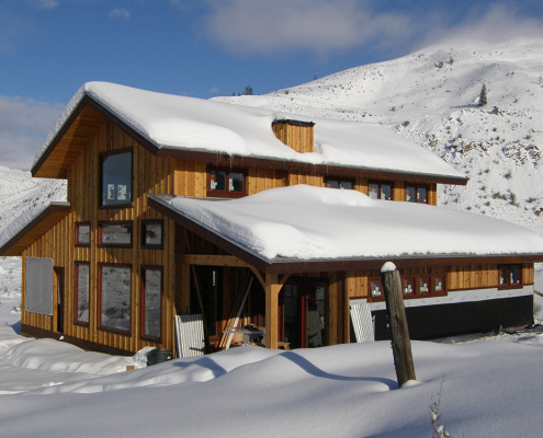 Timber Frame Home Winter Image